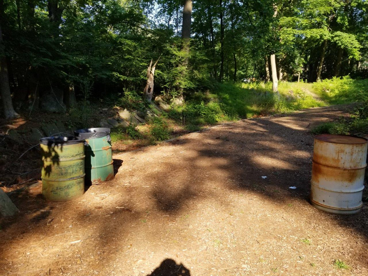The HofHeimer Grotto, Garbage cans provided by Warren DPW
