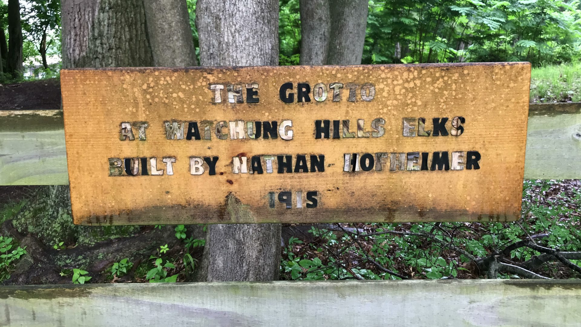 The Elks Grotto Sign in disrepair