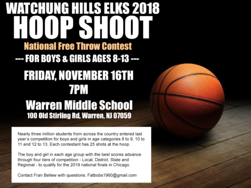 Elks Lodge 885 Hoop Shoot 2018