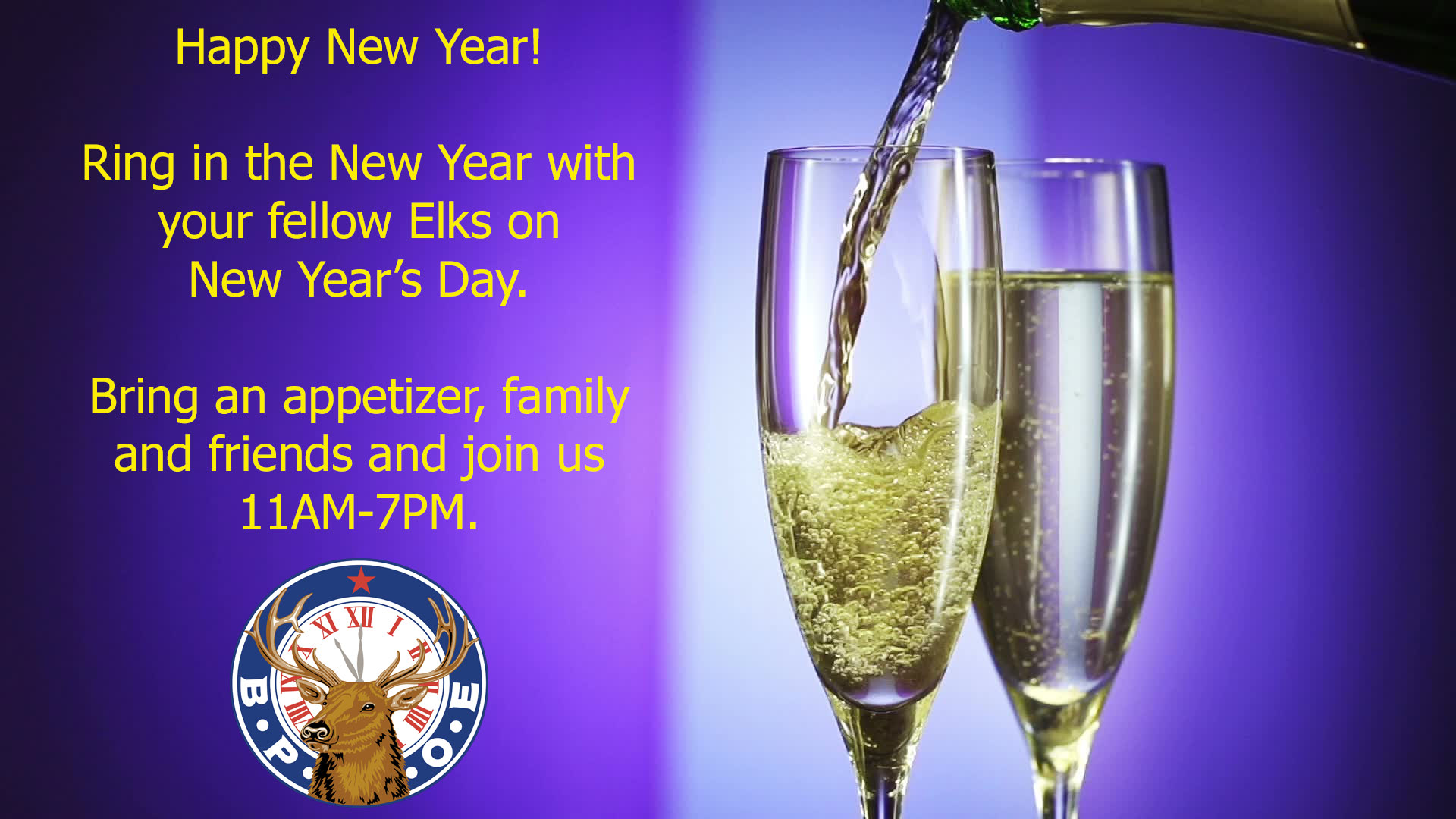 Ring in the New Year in 2019 with BPOE Elks Lodge #885