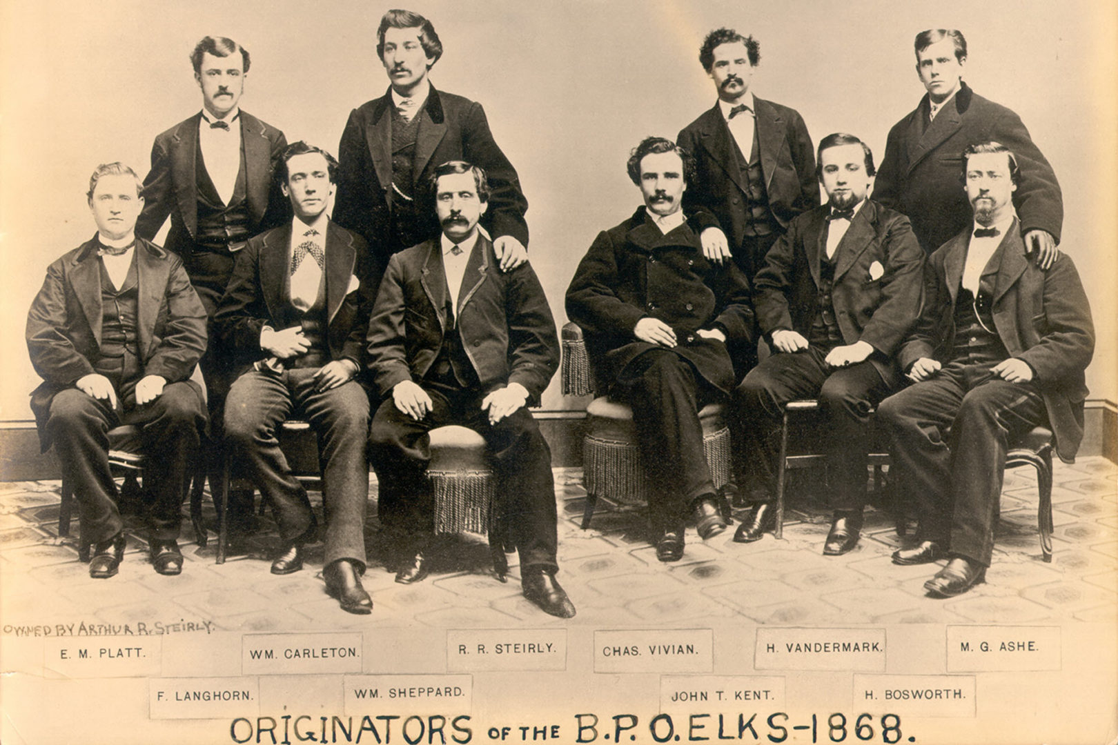 Originators of the B.P.O.Elks 1868