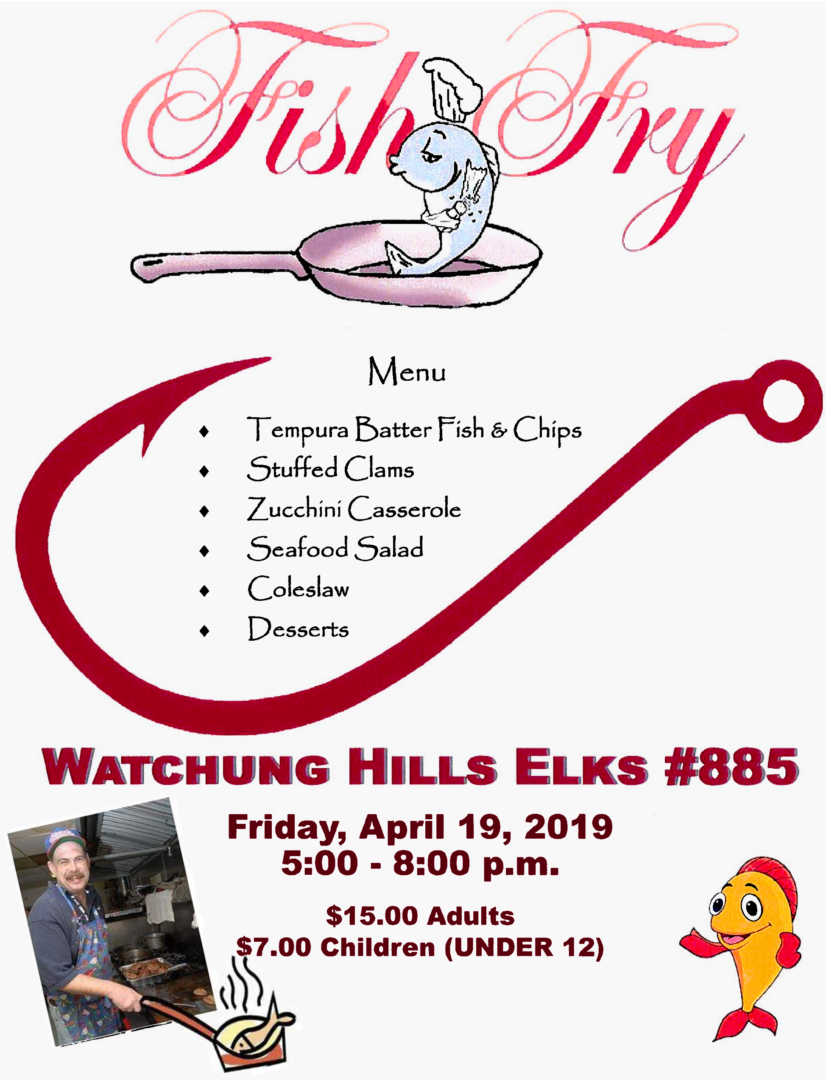 Watchung Hills Elks Lodge 885 Annual Fish Fry 2019