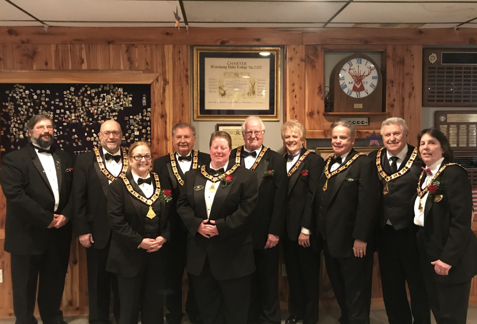 Watchung Hills Elks Lodge 885, Grand Lodge Installation Officers, 2019
