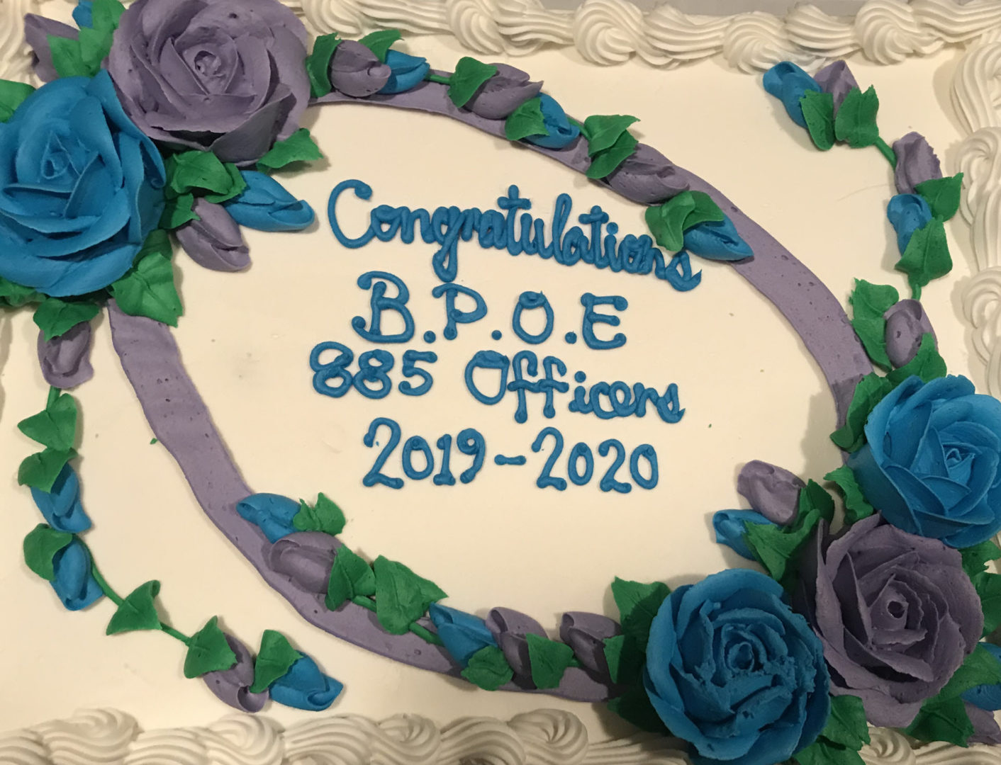 Lodge 885, Officer Installation Cake, 2019
