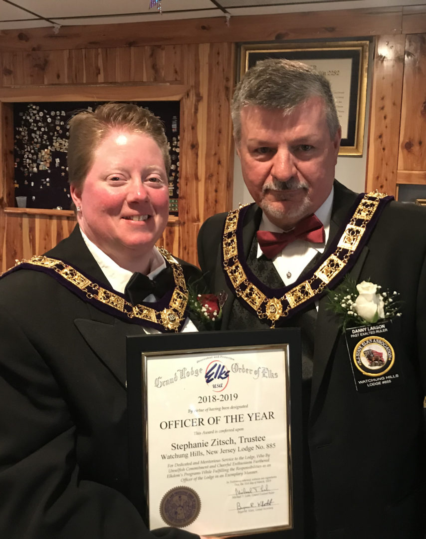 Watchung Hills Elks Lodge 885, Officer of the Year 2018-2019, Stephanie Zitsch