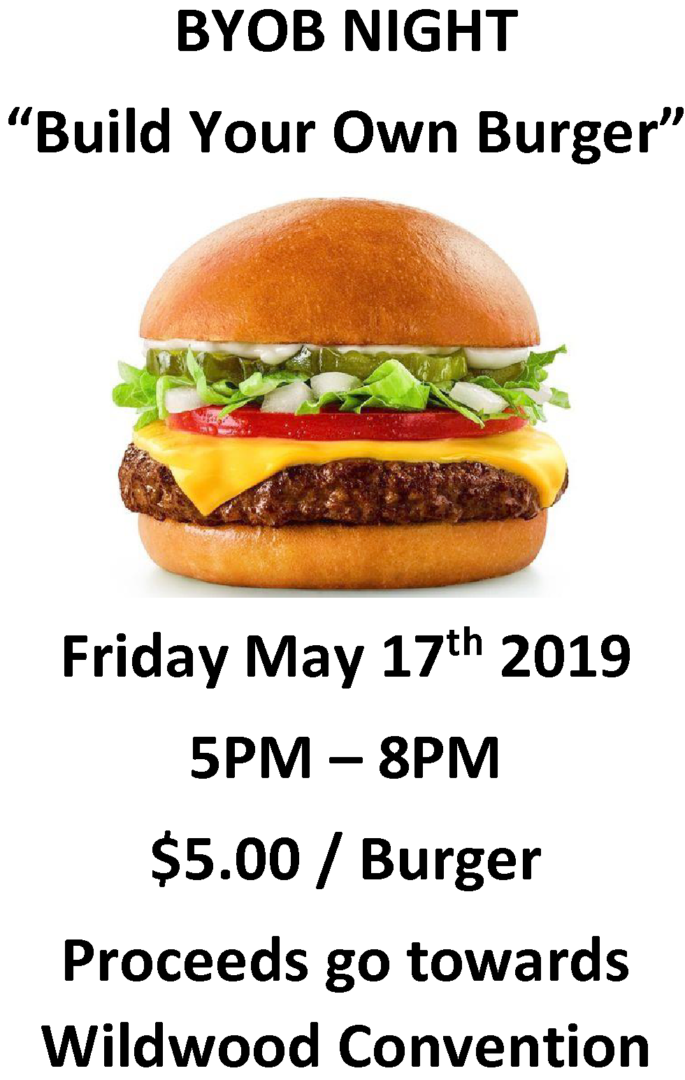 Build Your Own Burger Night 2019